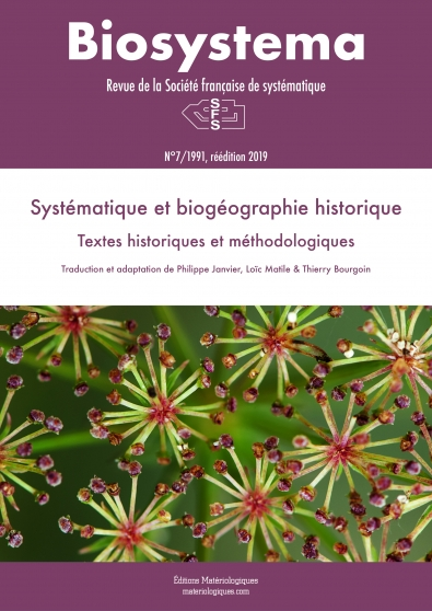 Biosystema 31/2018. Introduction aux méthodes comparatives phylogénétiques