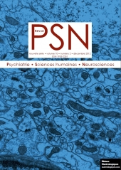 """Revue """"Psychiatrie, sciences humaines, neurosciences"""", vol. 10, n° 2, décembre 2012"""